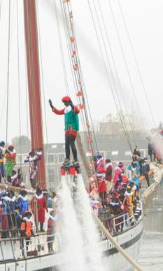 Flyboard show - Sinterklaas